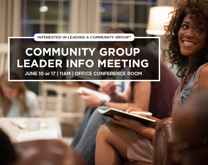 Community Group Leader Info Meeting