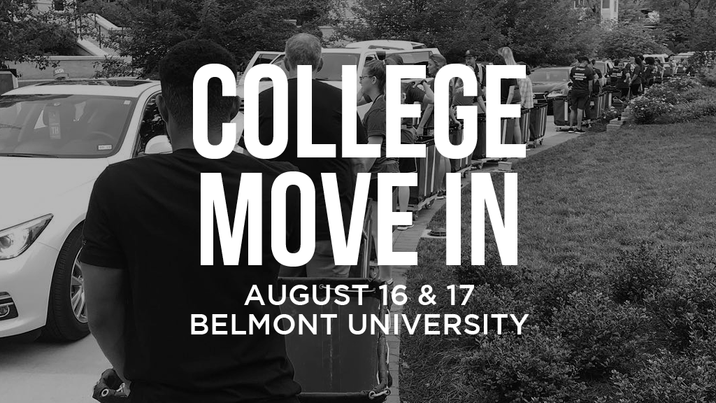 College Move In at Belmont